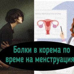 Менструация, болки в корема